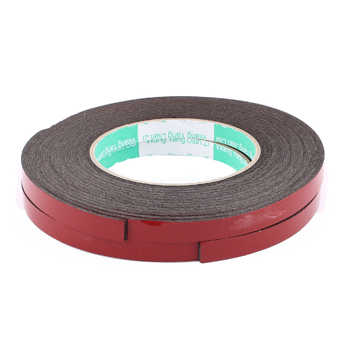 2pcs Black Strong Double Sided Adhesive Tape Sponge Tape 10MM Width 5M Long