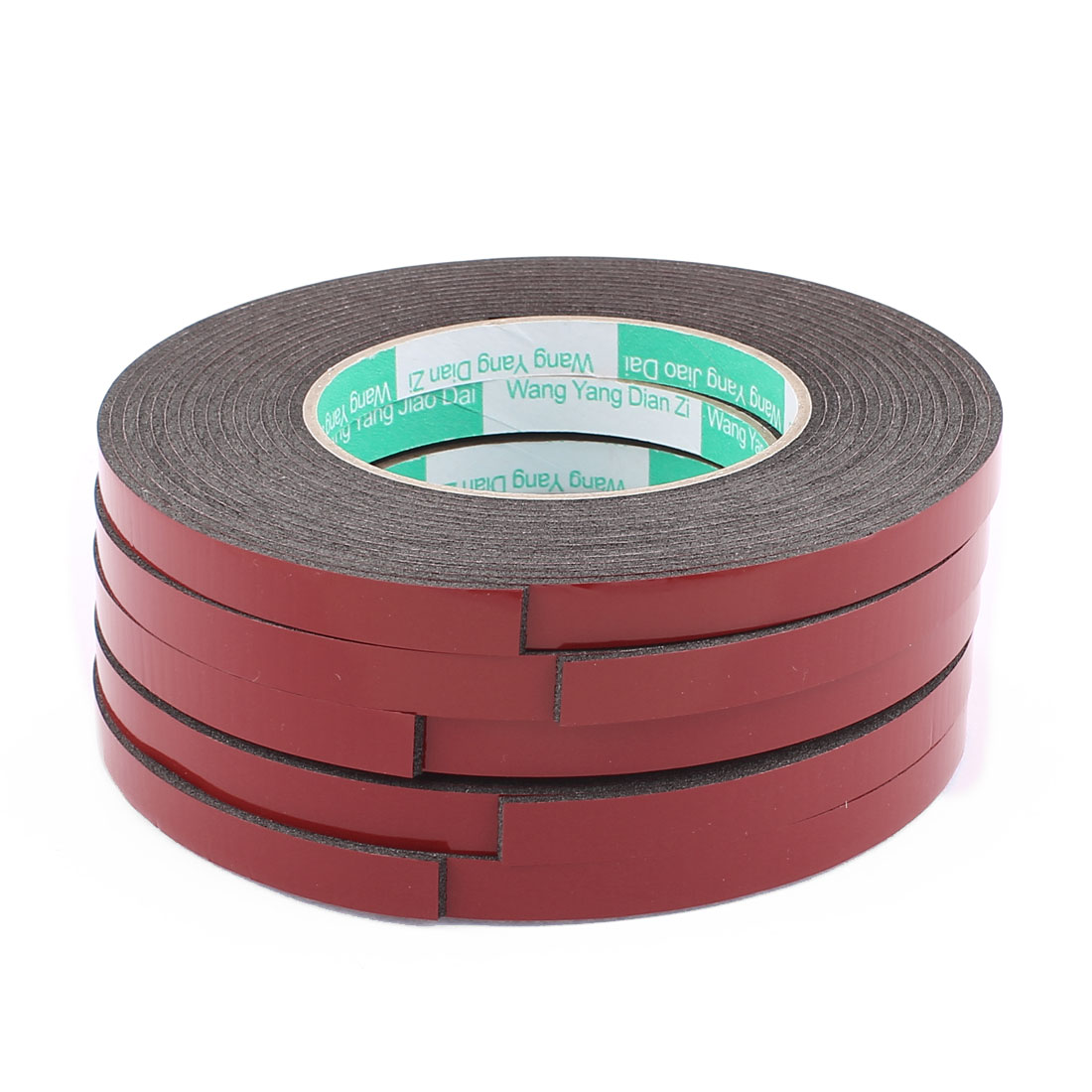 5pcs Black Strong Double Sided Adhesive Tape Sponge Tape 10MM Width 5M Long