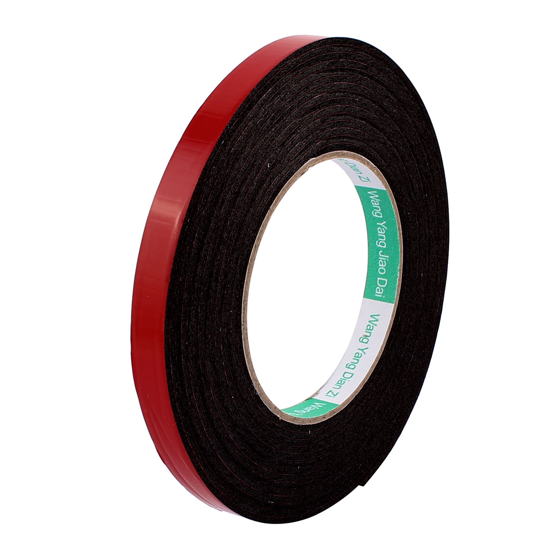 Black Strong Double Sided Adhesive Tape Sponge Tape 12MM Width 5M Long