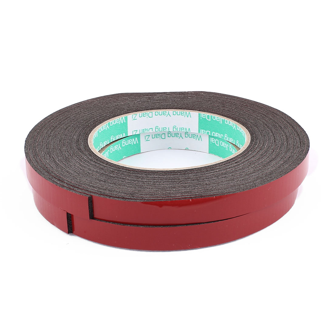 2 Pcs Black Strong Double Sided Adhesive Tape Sponge Tape 12MM Width 5M Long