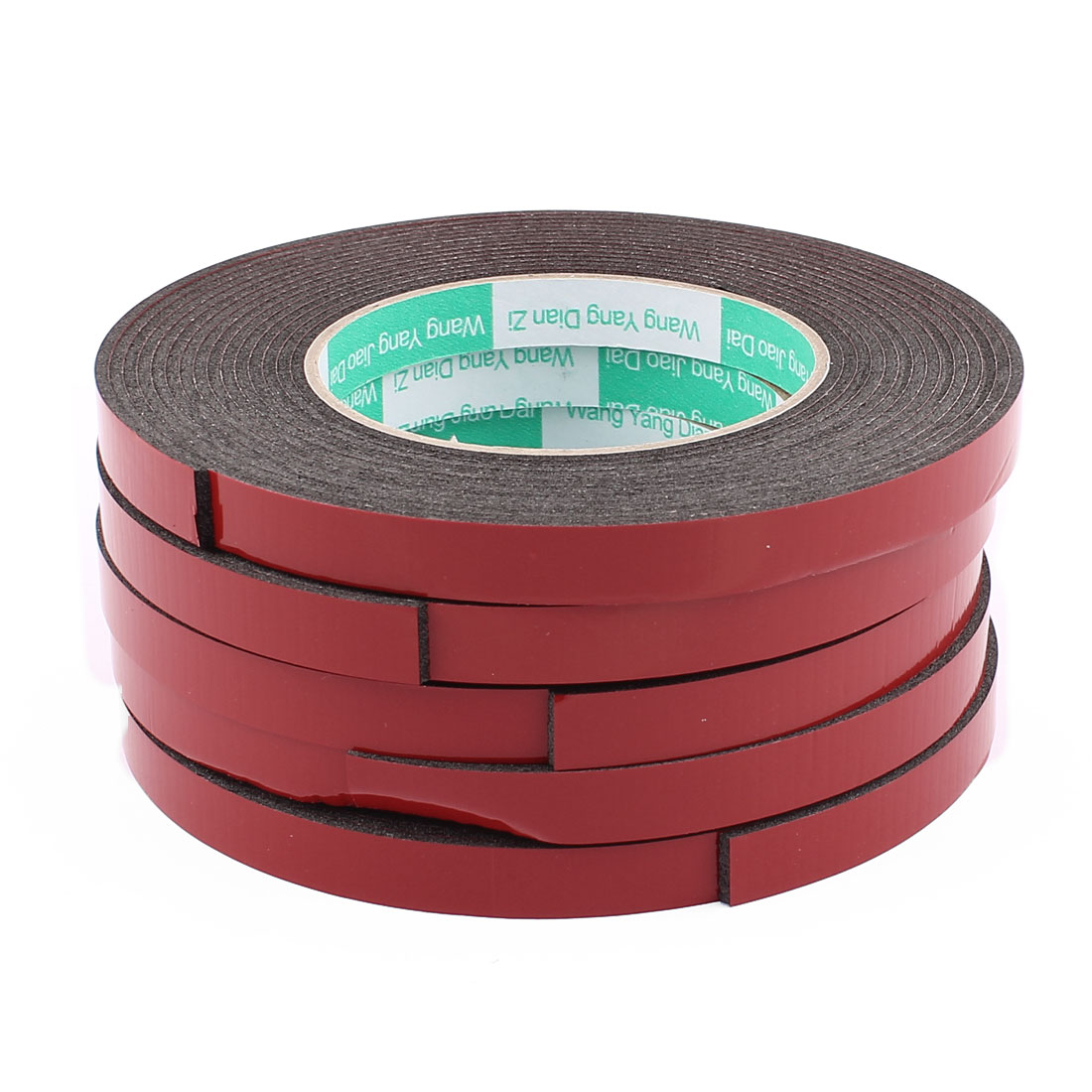 5 Pcs Black Strong Double Sided Adhesive Tape Sponge Tape 12MM Width 5M Long