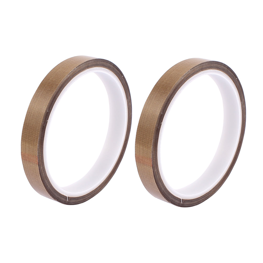 2pcs 0.13mm x 15mm Nonstick High Temperature PTFE Adhesive Tape 10M Long