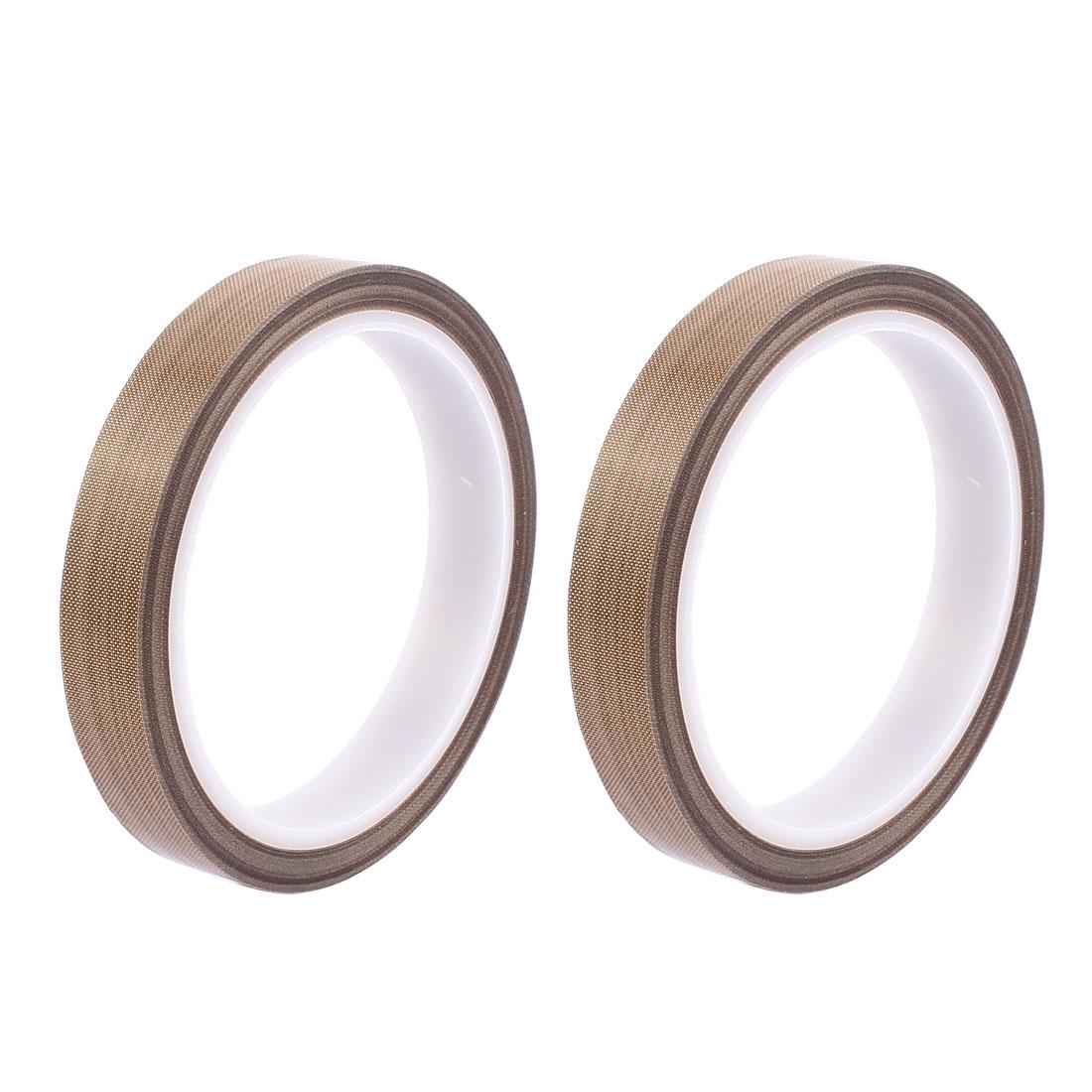 2pcs 0.18mm x 15mm Nonstick High Temperature PTFE Adhesive Tape 10M Long
