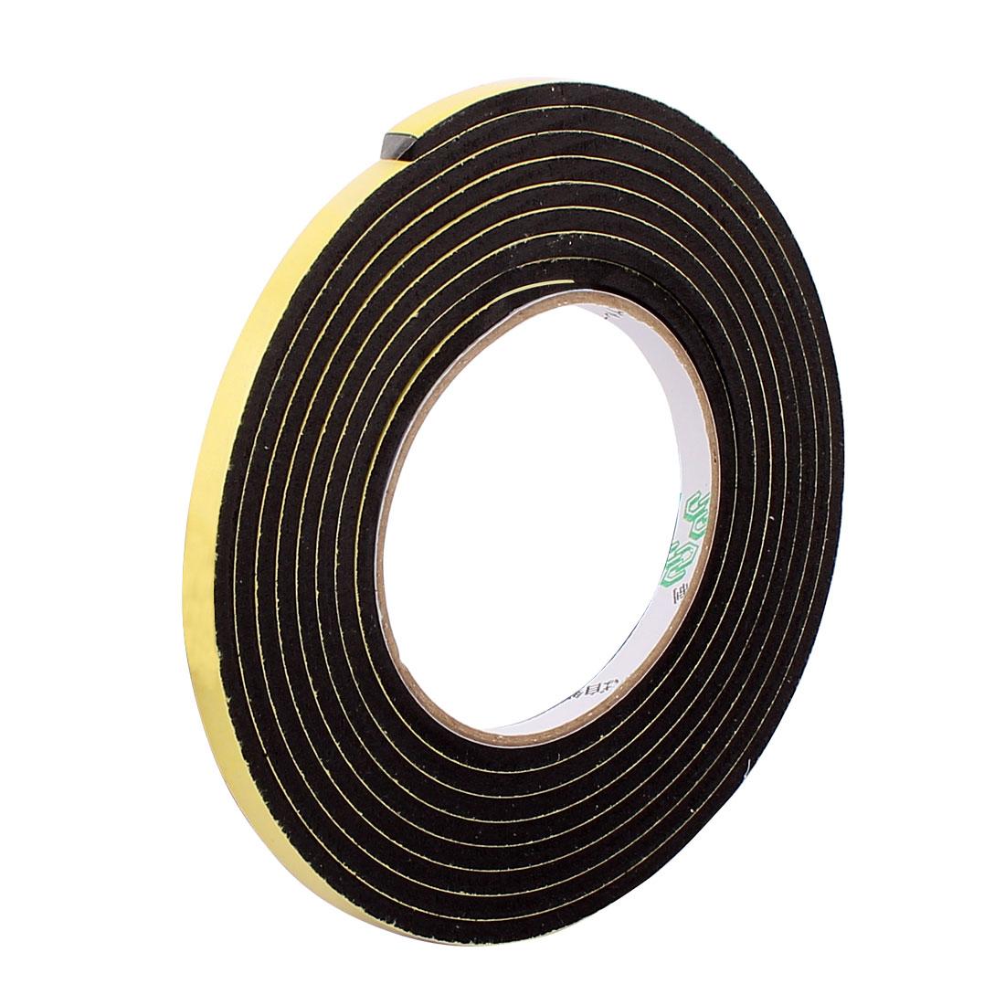 Black 0.6CM Wide 4M Length 3MM Thick Single Sided Shockproof Sponge Tape