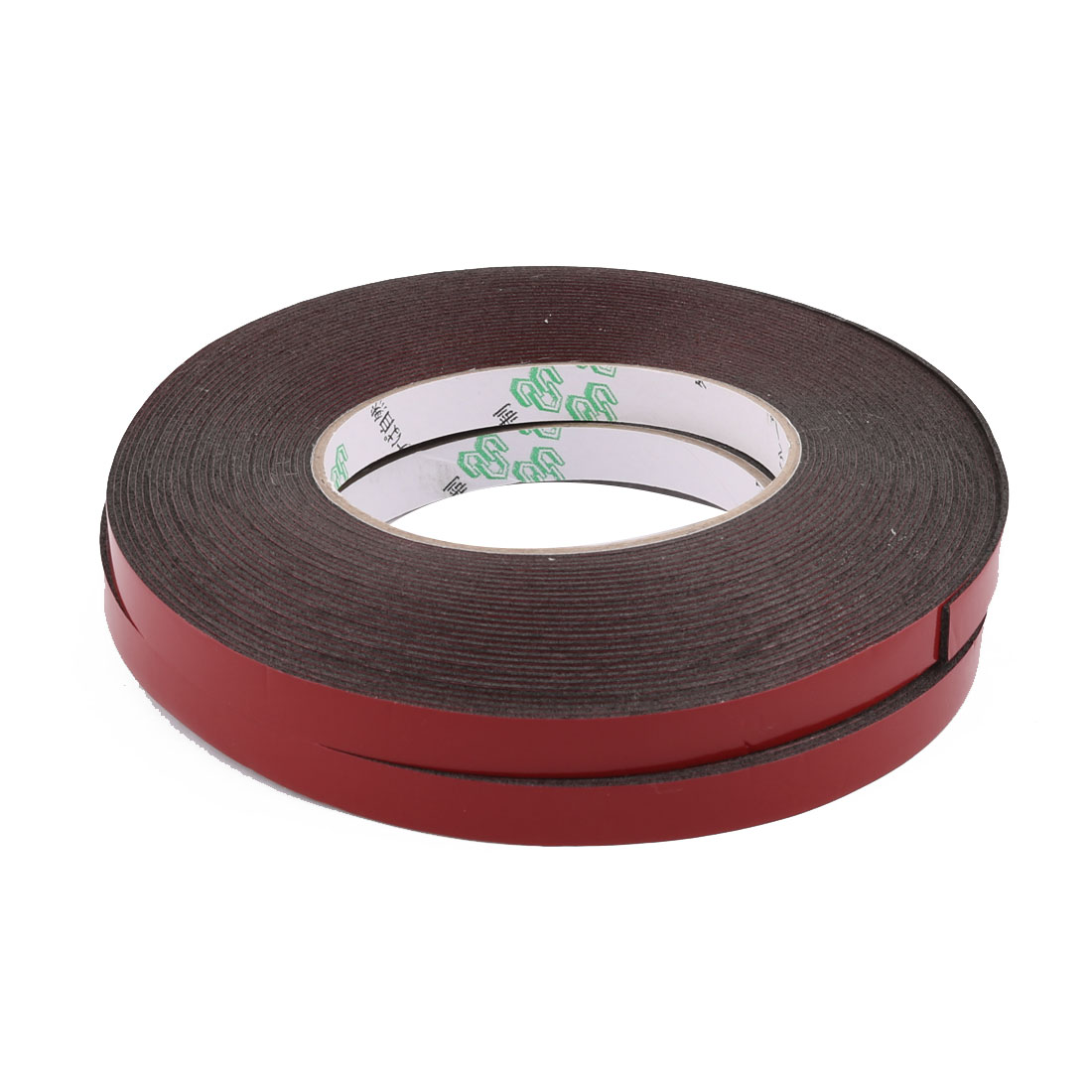 2pcs 1CM Width 10M Length 1MM Thick Dual Sided Sealing Shockproof Sponge Tape Black