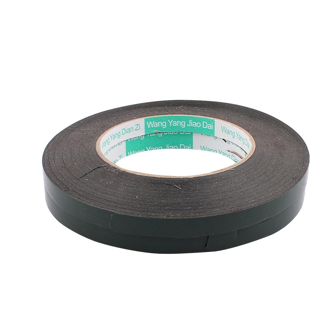 2 Pcs 1CM Width 15M Length 0.5MM Thick Dual Sided Sealing Shockproof Sponge Tape