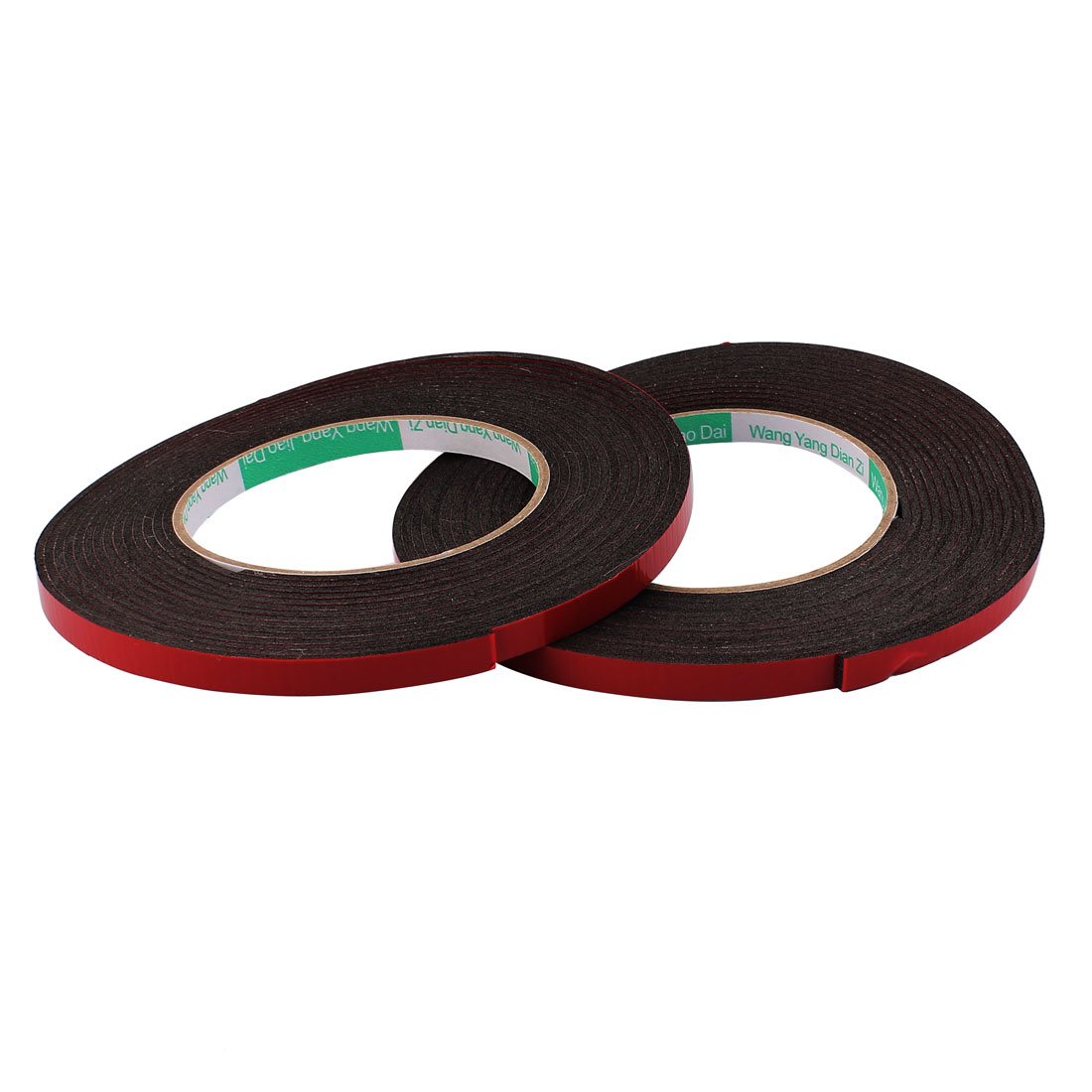 2 Pcs 0.8CM Width 5M Length 2MM Thick Dual Sided Sealing Shockproof Sponge Tape
