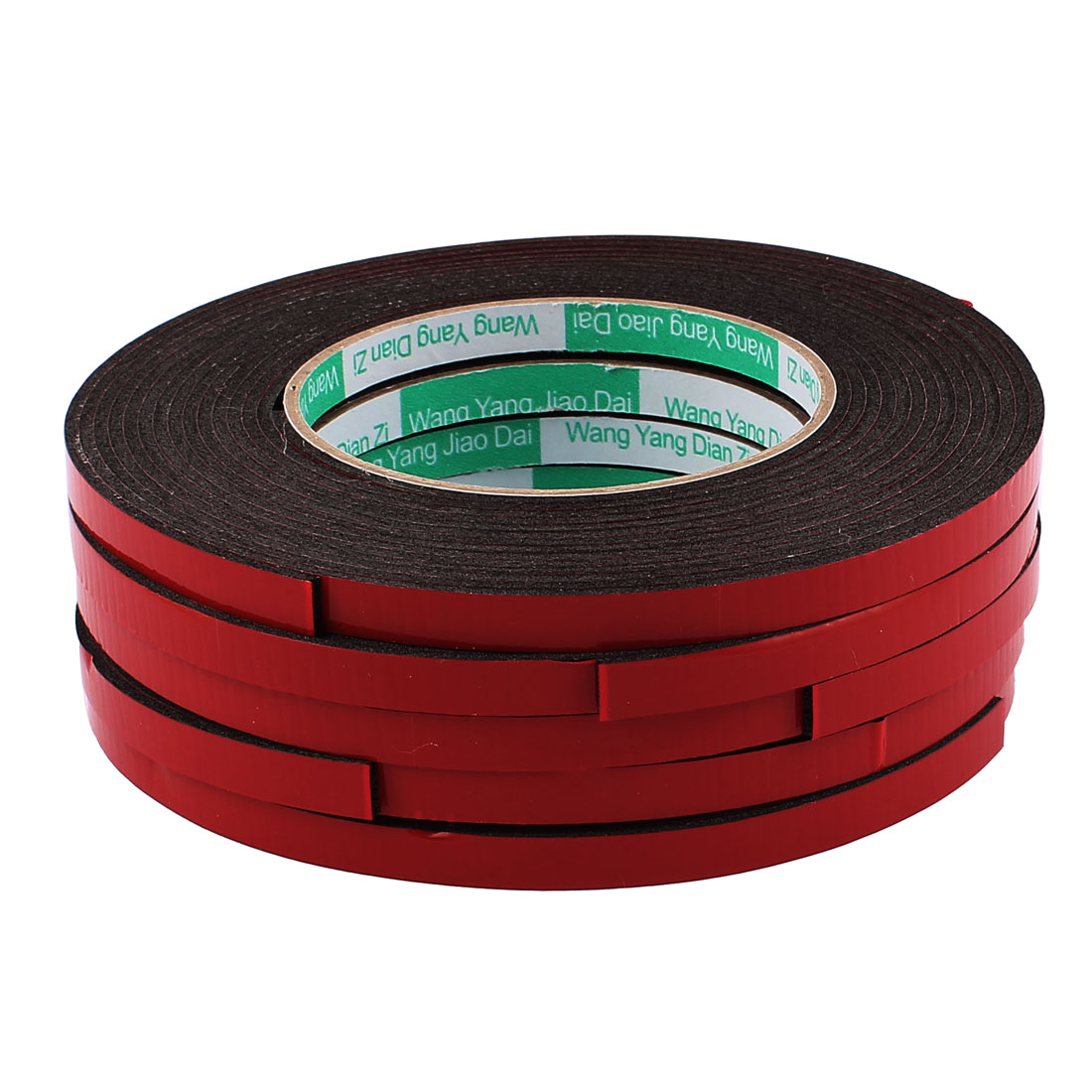 5 Pcs 0.8CM Width 5M Length 2MM Thick Dual Sided Sealing Shockproof Sponge Tape
