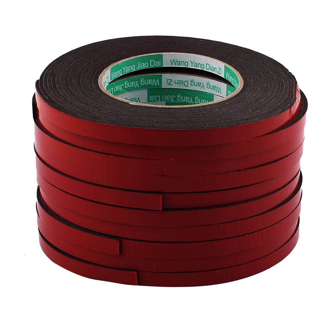 10 Pcs 0.8CM Width 5M Length 2MM Thick Dual Sided Sealing Shockproof Sponge Tape