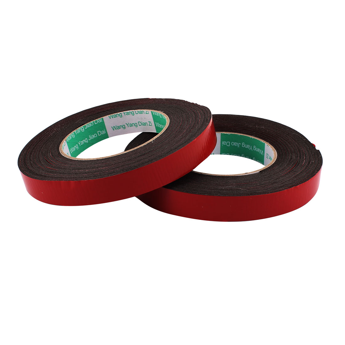 2Pcs 1.8CM Width 5M Length 2MM Thick Dual Sided Sealing Shockproof Sponge Tape