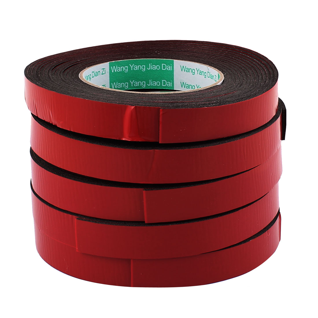 5Pcs 1.8CM Width 5M Length 2MM Thick Dual Sided Sealing Shockproof Sponge Tape