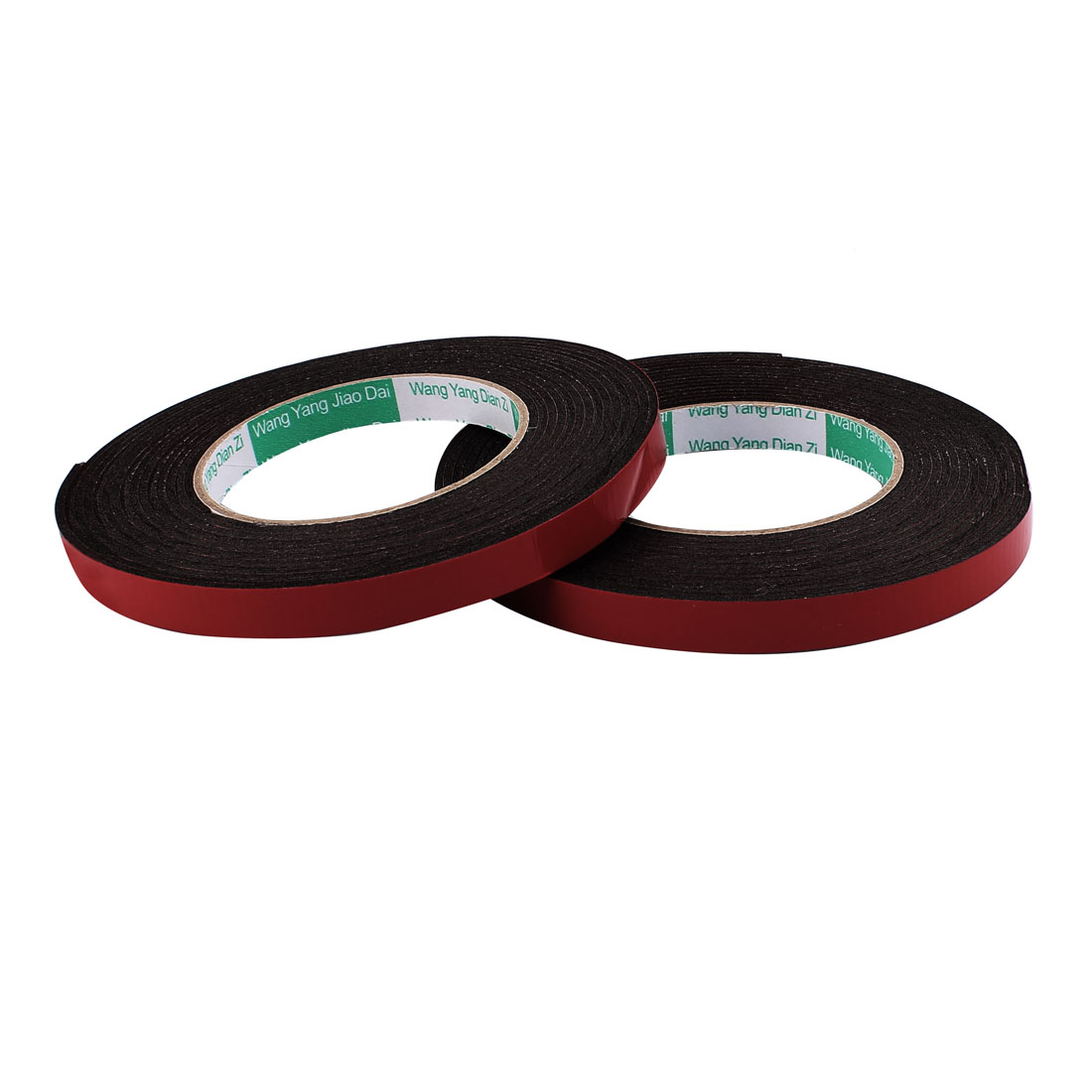 2 Pcs 1.2CM Width 5M Length 2MM Thick Dual Sided Sealing Shockproof Sponge Tape