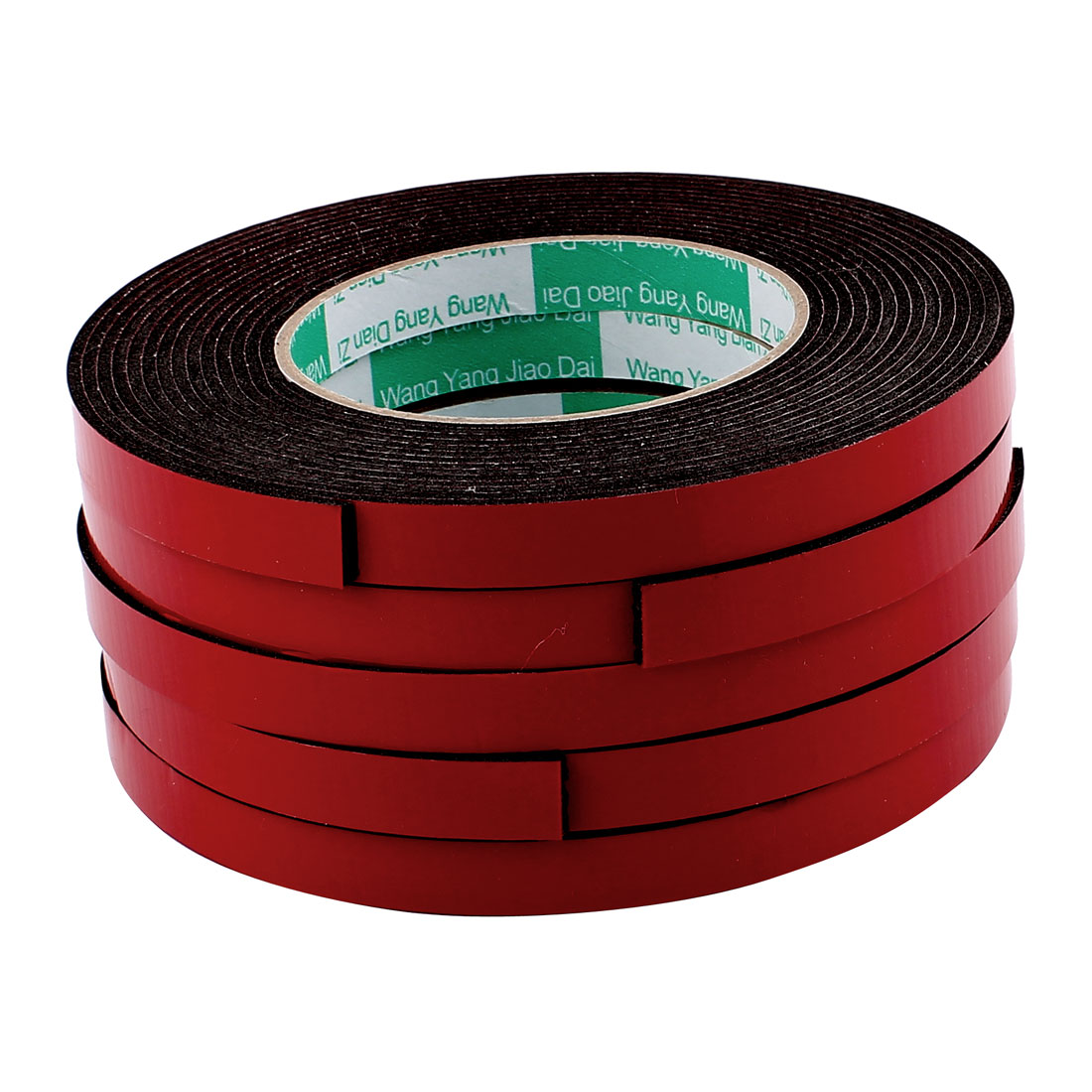 5 Pcs 1.2CM Width 5M Length 2MM Thick Dual Sided Sealing Shockproof Sponge Tape
