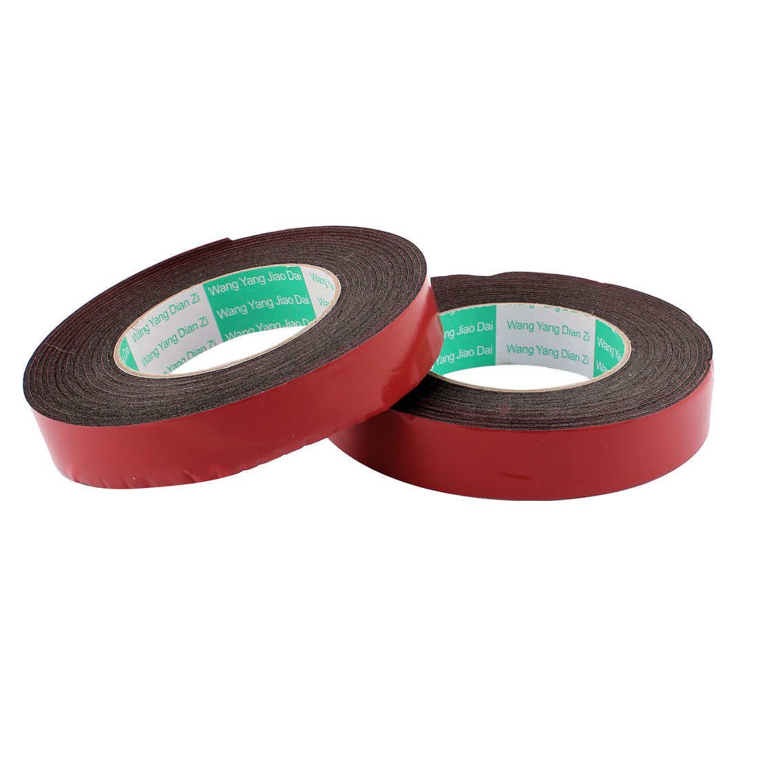 2 Pcs 2.5CM Width 5M Length 2MM Thick Dual Sided Sealing Shockproof Sponge Tape