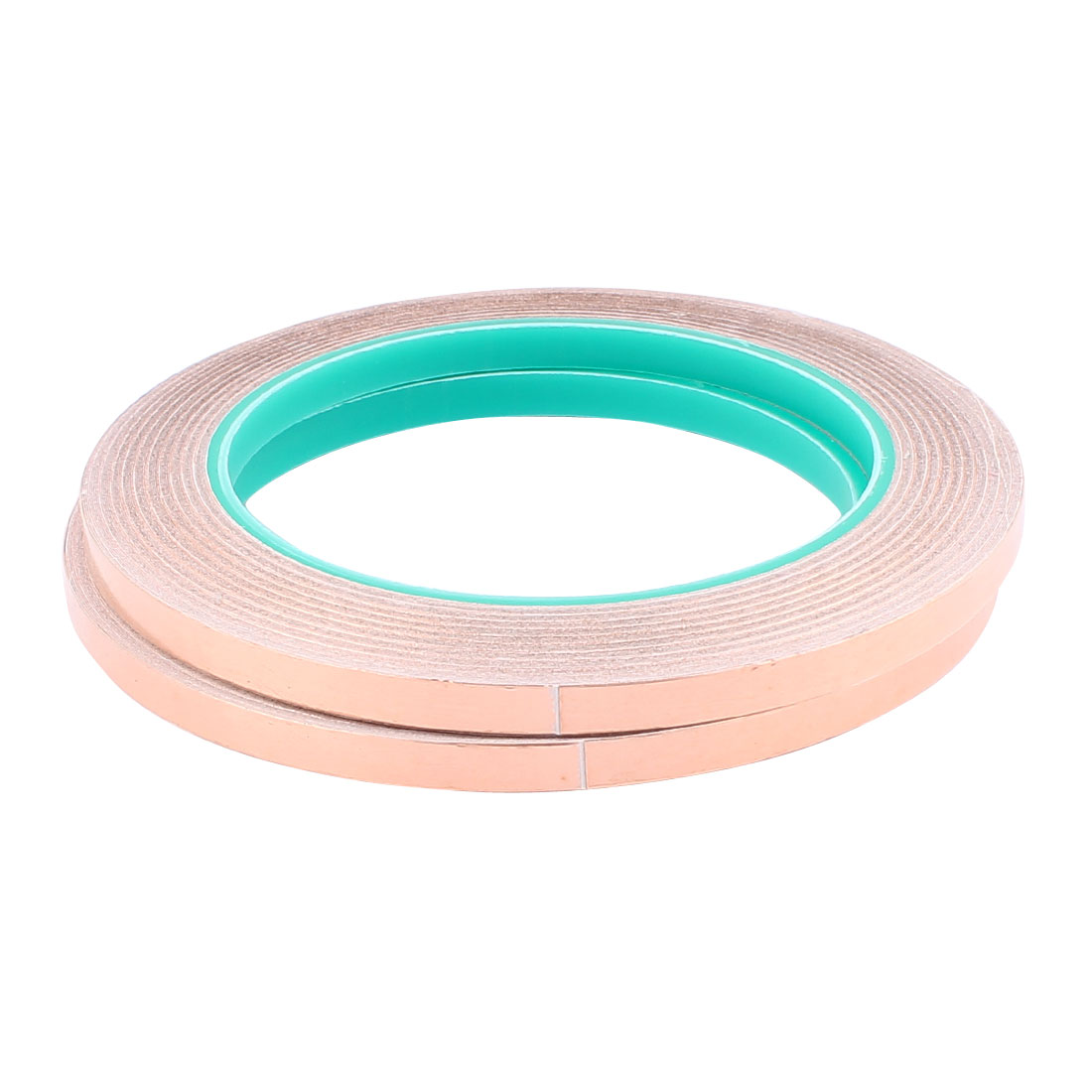 2 Pcs 6mm Width 20m Long DIY Adhesive Double Sided Conductive Copper Foil Tape