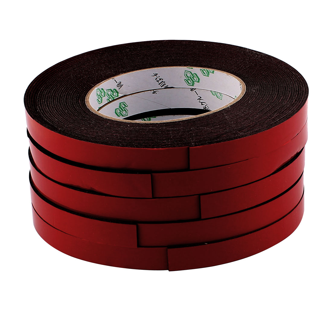 5 Pcs 1.2CM Width 10M Length 1MM Thick Dual Sided Sealing Shockproof Sponge Tape