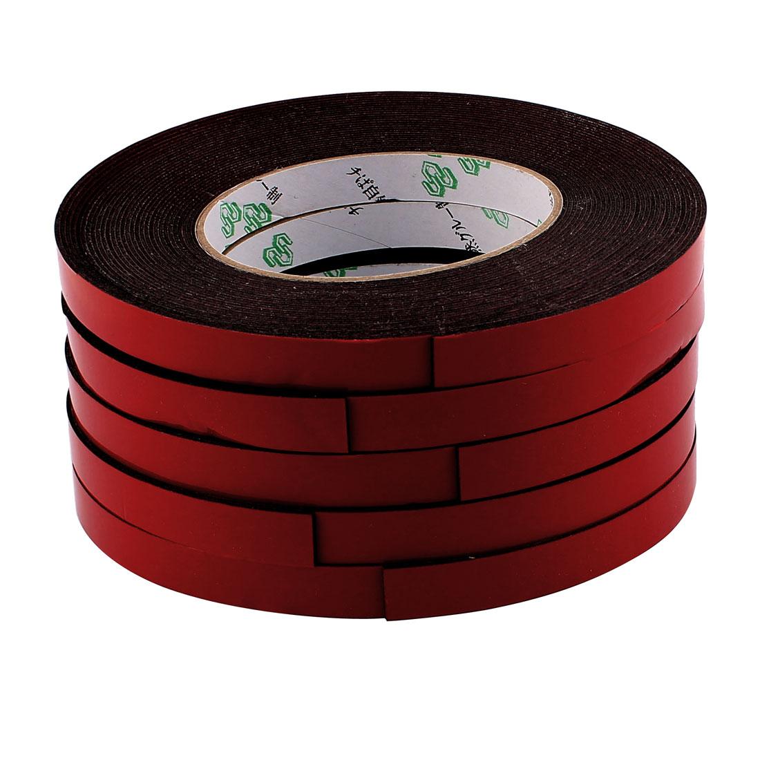 5 Pcs 1.2CM Width 10M Length 1MM Thick Dual Sided Sealing Shockproof Sponge Tape