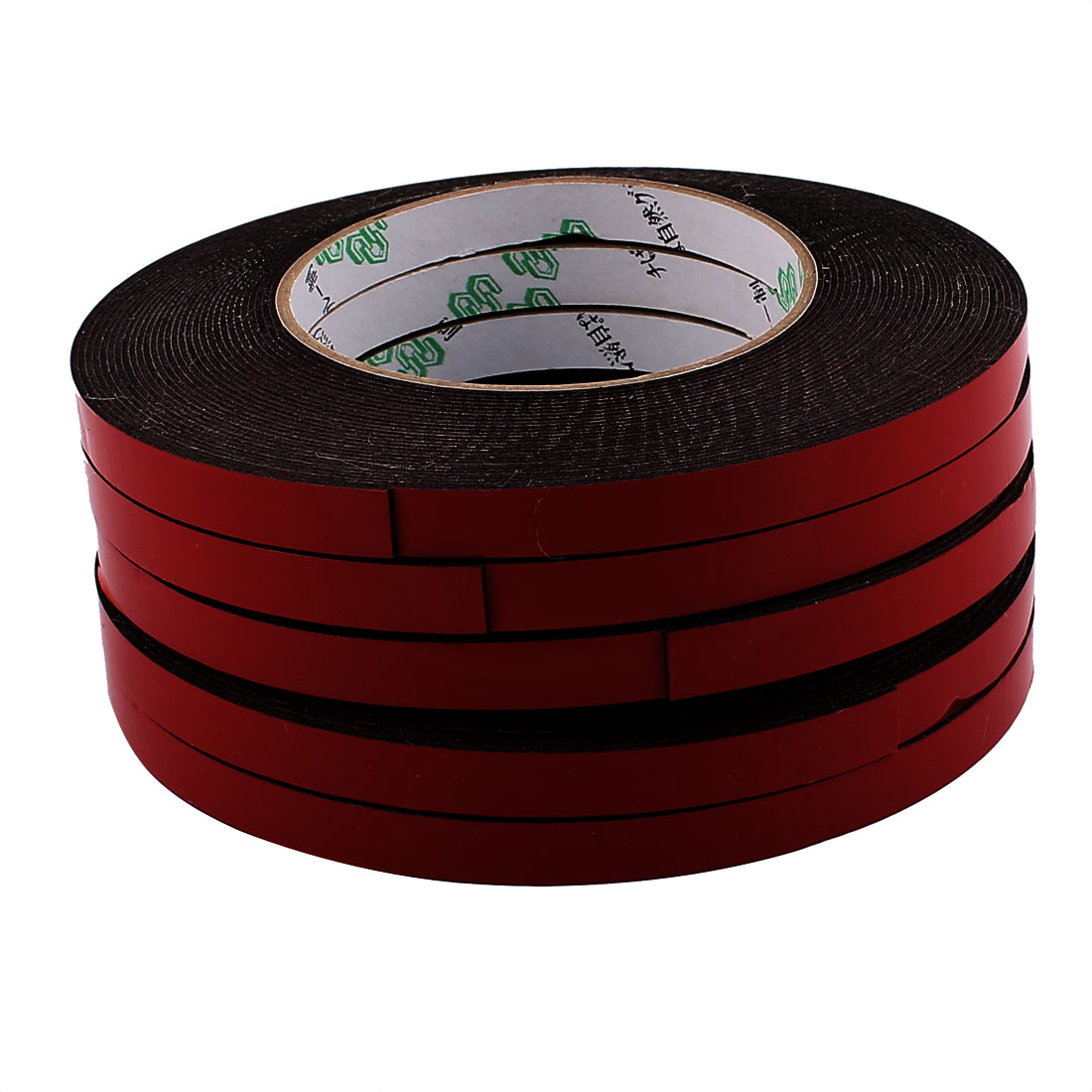 5 Pcs 10MM Width 10M Length 1MM Thick Dual Sided Sealing Shockproof Sponge Tape