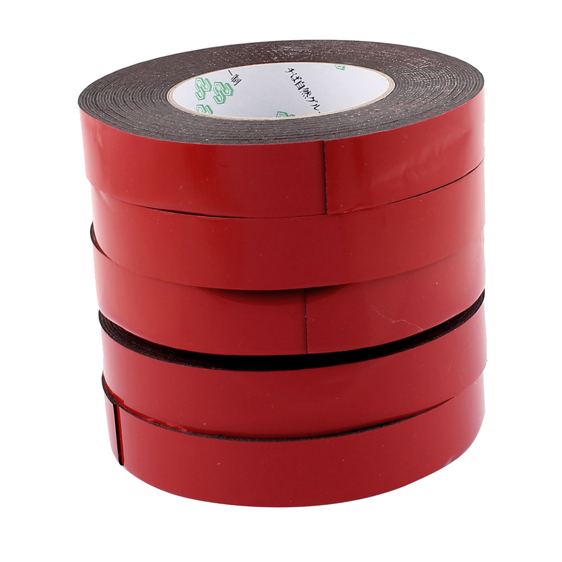 5 Pcs 2.5CM Width 10M Length 1MM Thick Dual Sided Sealing Shockproof Sponge Tape