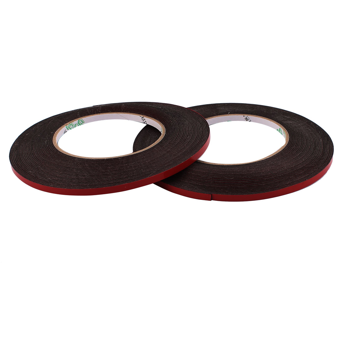 2 Pcs 5MM Width 10M Length 1MM Thick Dual Sided Sealing Shockproof Sponge Tape