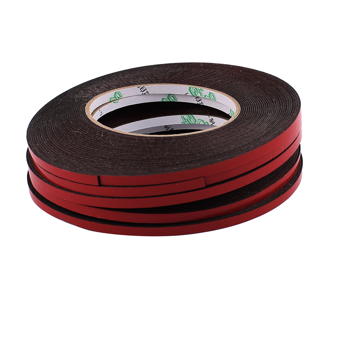 5 Pcs 5MM Width 10M Length 1MM Thick Dual Sided Sealing Shockproof Sponge Tape