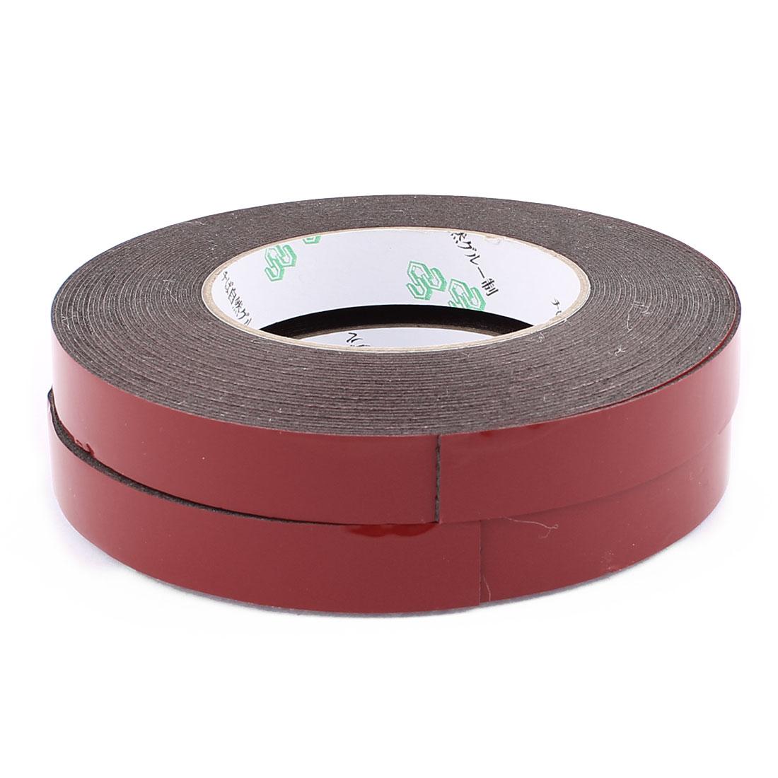2 Pcs 1.8CM Width 10M Length 1MM Thick Dual Sided Sealing Shockproof Sponge Tape
