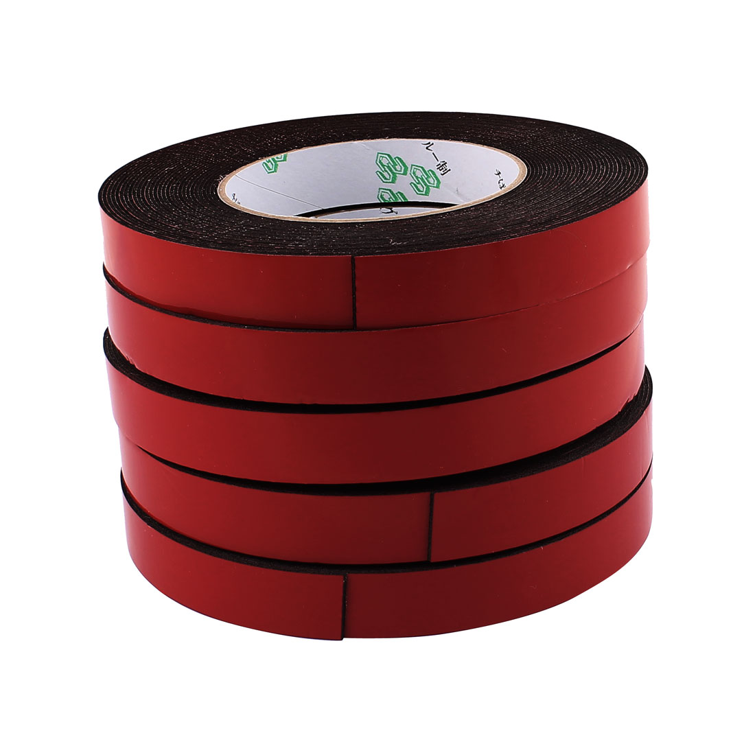 5 Pcs 1.8CM Width 10M Length 1MM Thick Dual Sided Sealing Shockproof Sponge Tape