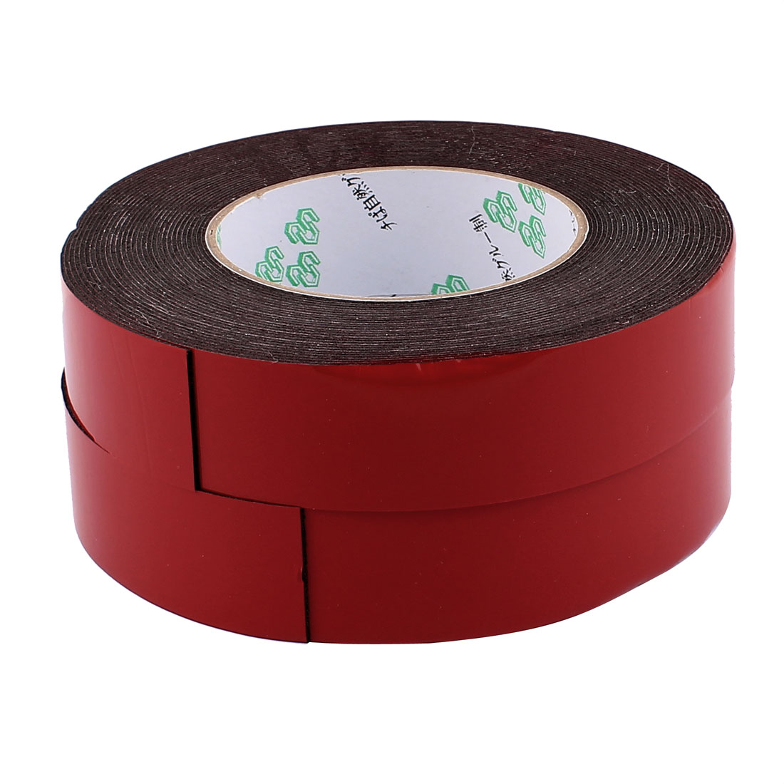 2 Pcs 3CM Width 10M Length 1MM Thick Dual Sided Sealing Shockproof Sponge Tape