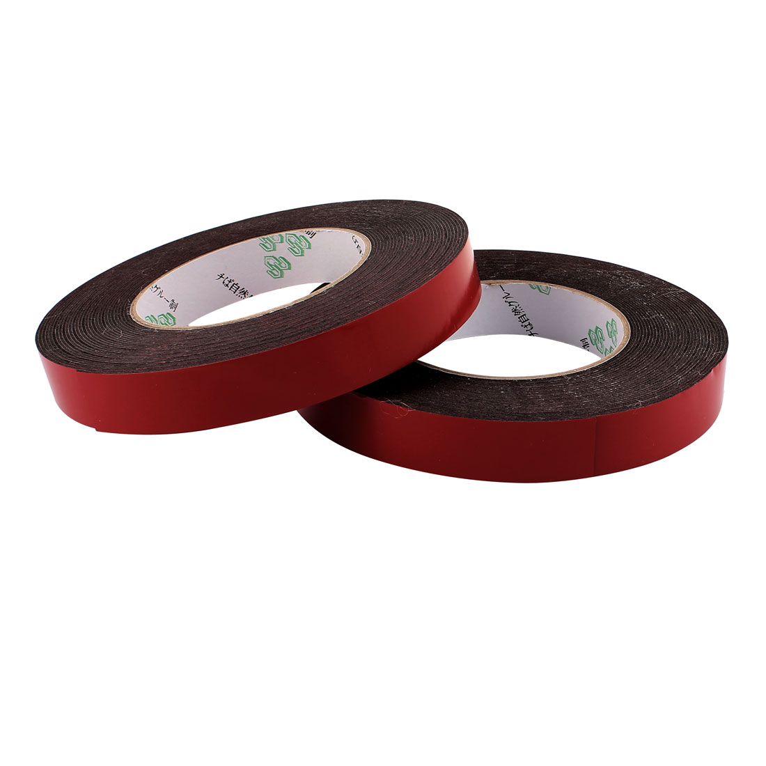 2 Pcs 2CM Width 10M Length 1MM Thick Dual Sided Sealing Shockproof Sponge Tape