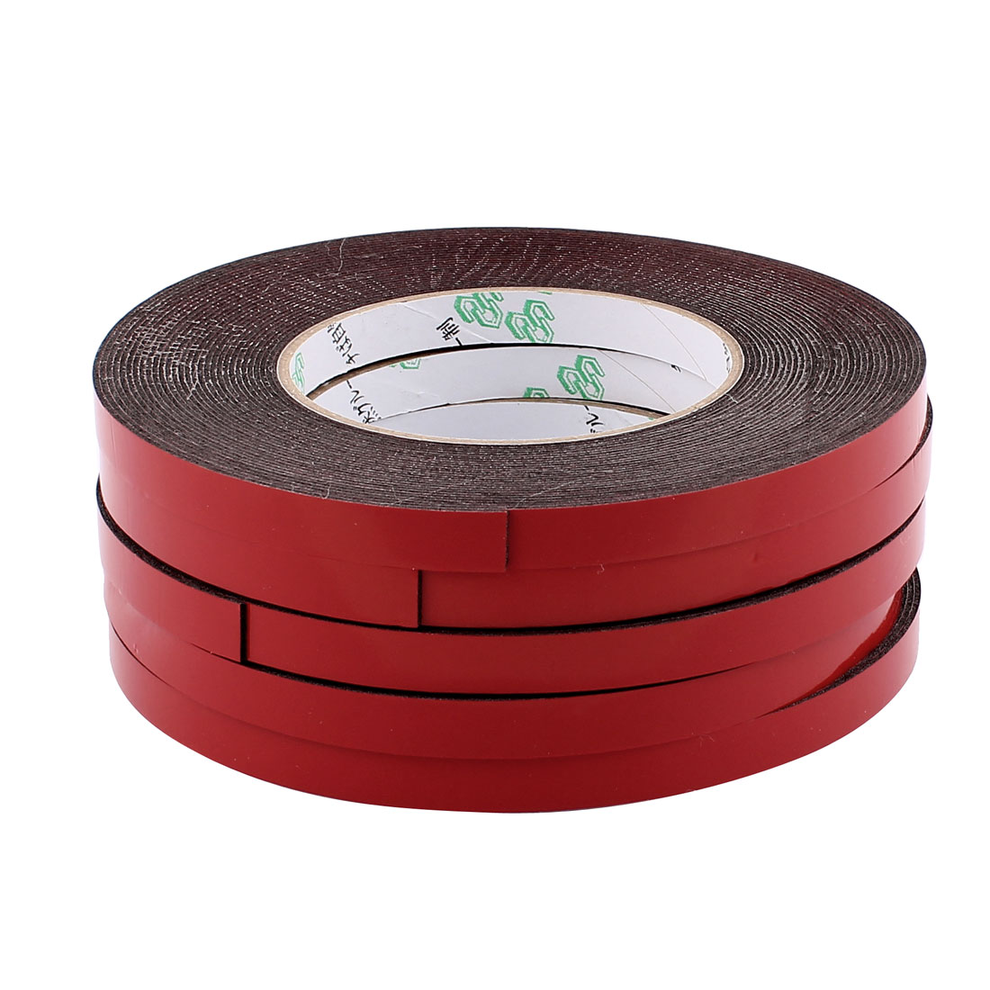 5 Pcs 1CM Width 10M Length 1MM Thick Dual Sided Sealing Shockproof Sponge Tape