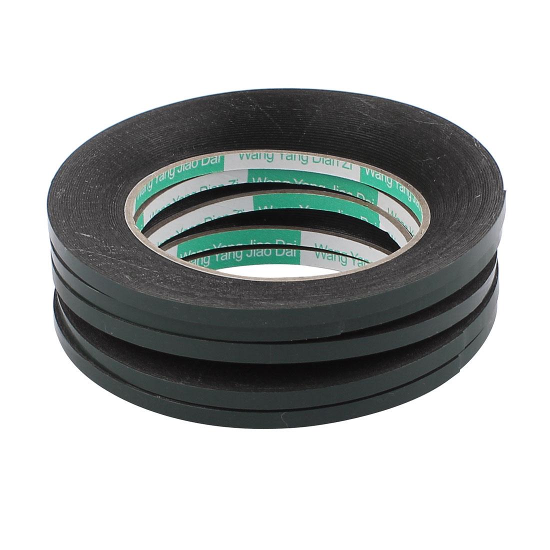 5 Pcs 0.5CM Width 10M Length 0.5MM Thick Dual Sided Sealing Shockproof Sponge Tape