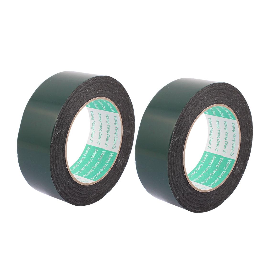 2 Pcs 3CM Width 10M Length 0.5MM Thick Dual Sided Sealing Shockproof Sponge Tape