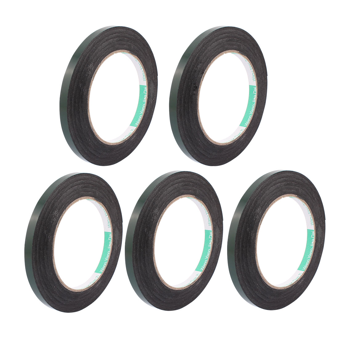 5 Pcs 8MM Width 10M Length 0.5MM Thick Dual Sided Sealing Shockproof Sponge Tape