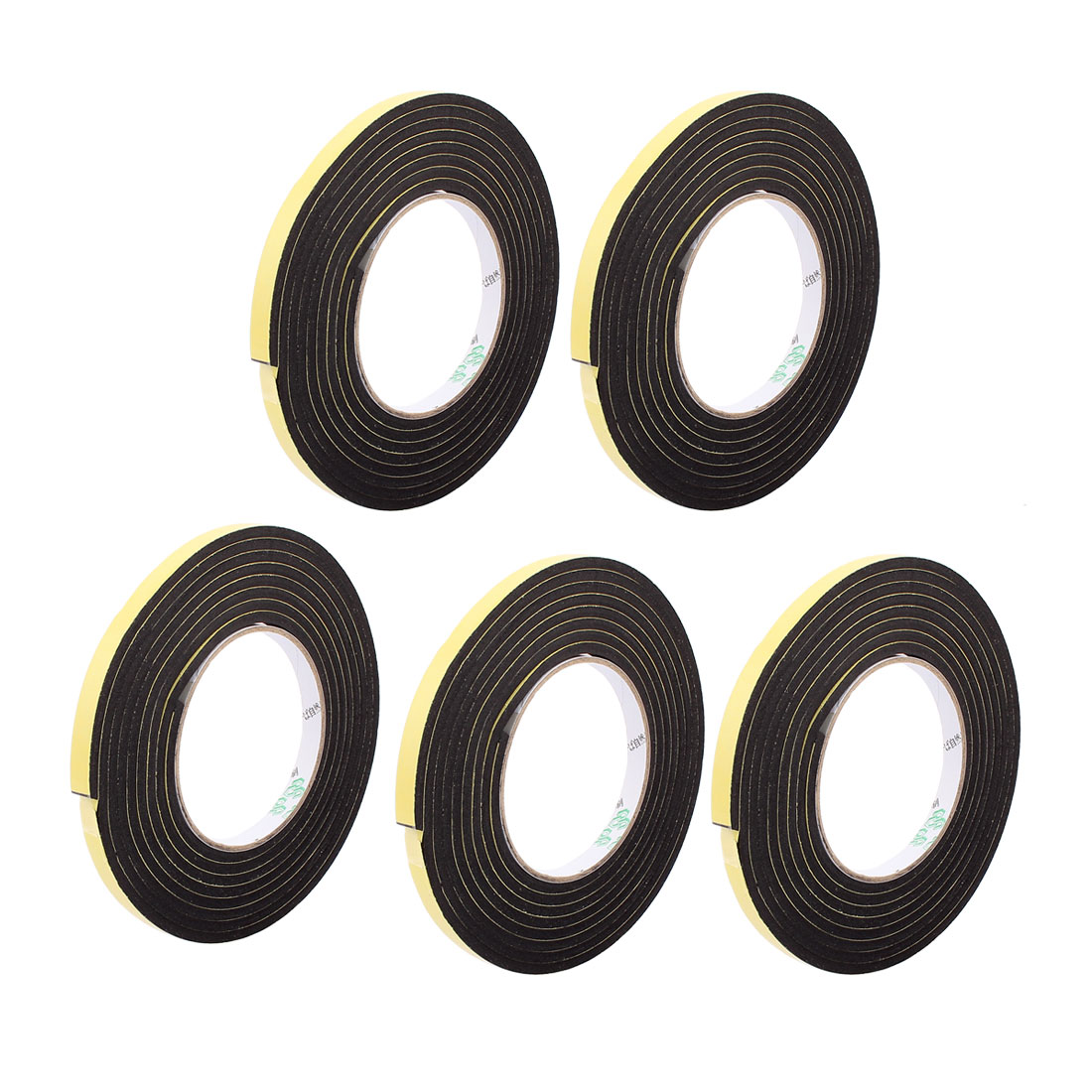 5Pcs 1CM Width 3 Meters Length 4MM Thick Single Sided Sealing Shockproof Sponge Tape