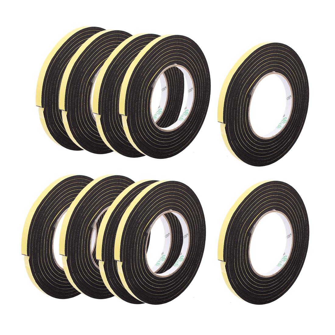10Pcs 1CM Width 3 Meters Length 4MM Thick Single Sided Sealing Shockproof Sponge Tape