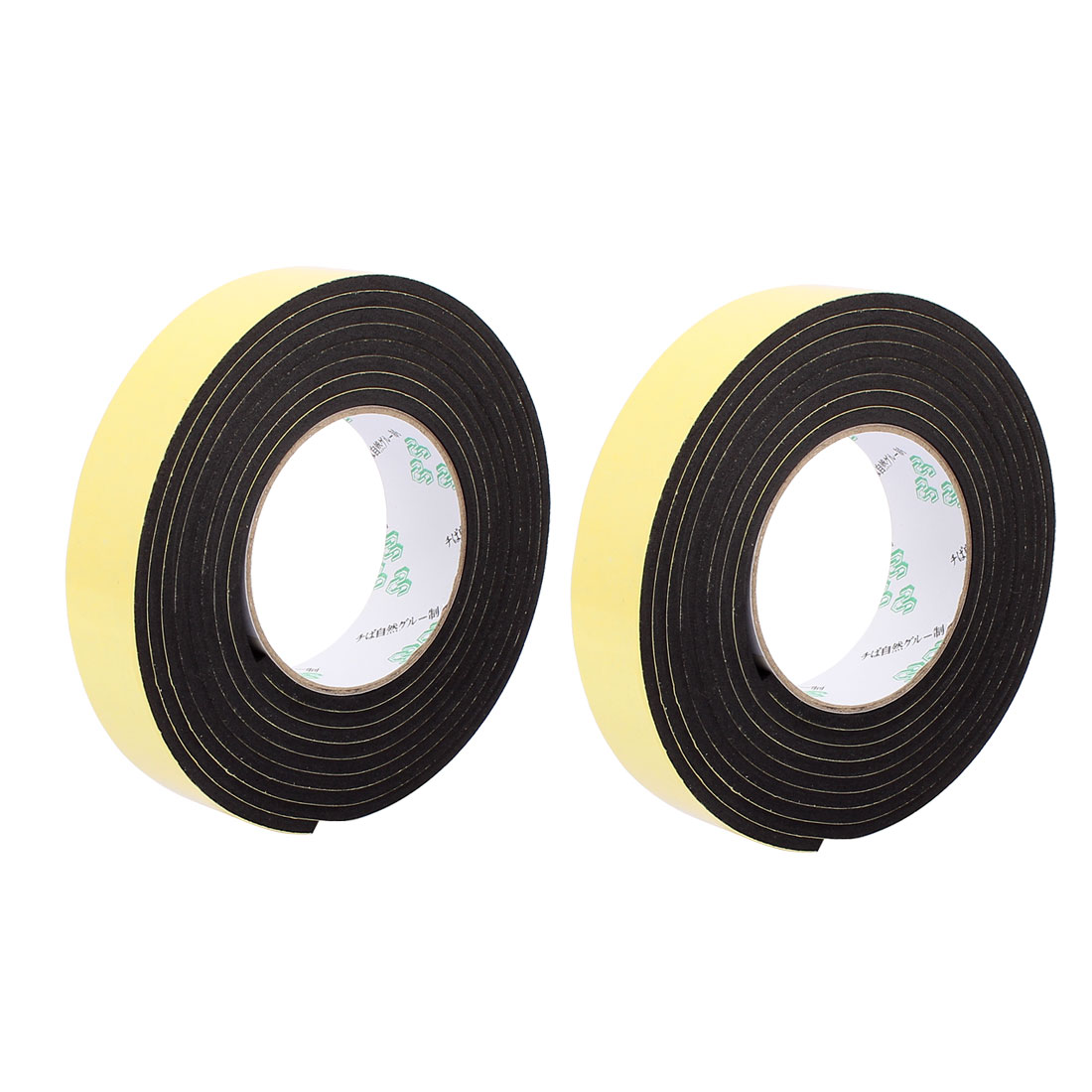 2Pcs 3CM Width 3 Meters Long 4MM Thick Single Sided Sealing Shockproof Sponge Tape