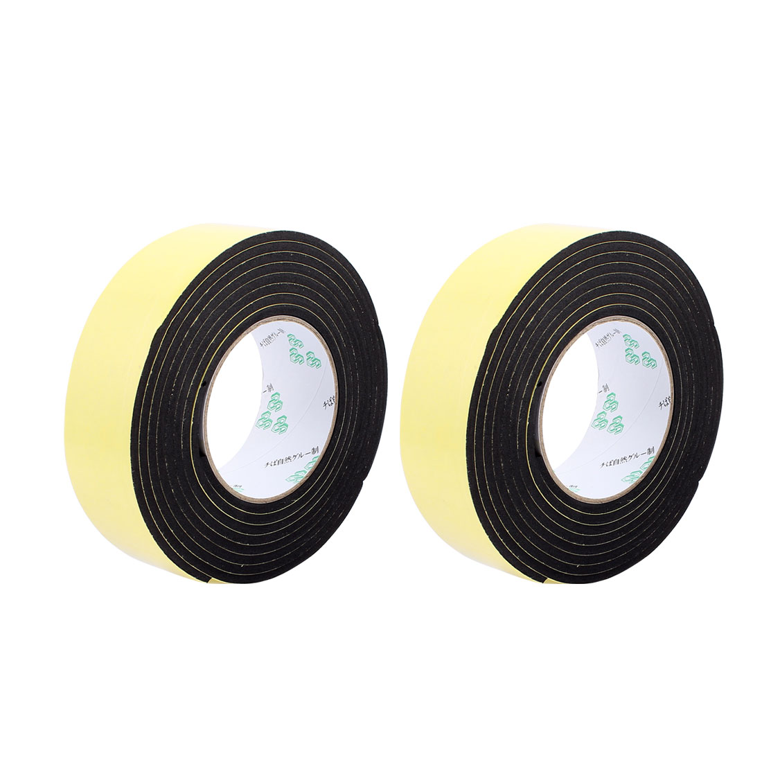 2Pcs 4.5CM Width 3 Meters Length 4MM Thick Single Sided Sealing Shockproof Sponge Tape