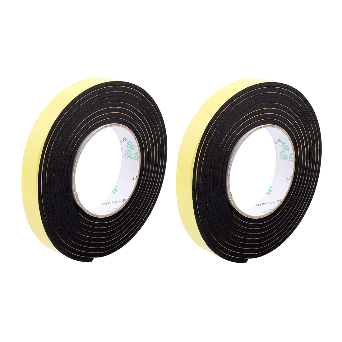 2 Pcs 2CM Width 3 Meters Length 4MM Thick Single Sided Sealing Shockproof Sponge Tape