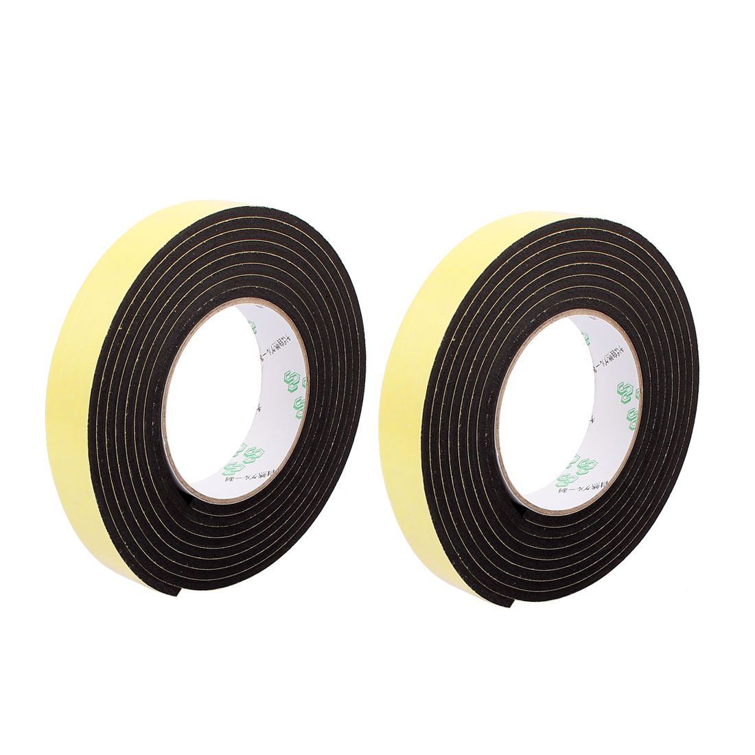 2Pcs 2.5CM Width 3 Meters Length 4MM Thick Single Sided Sealing Shockproof Sponge Tape