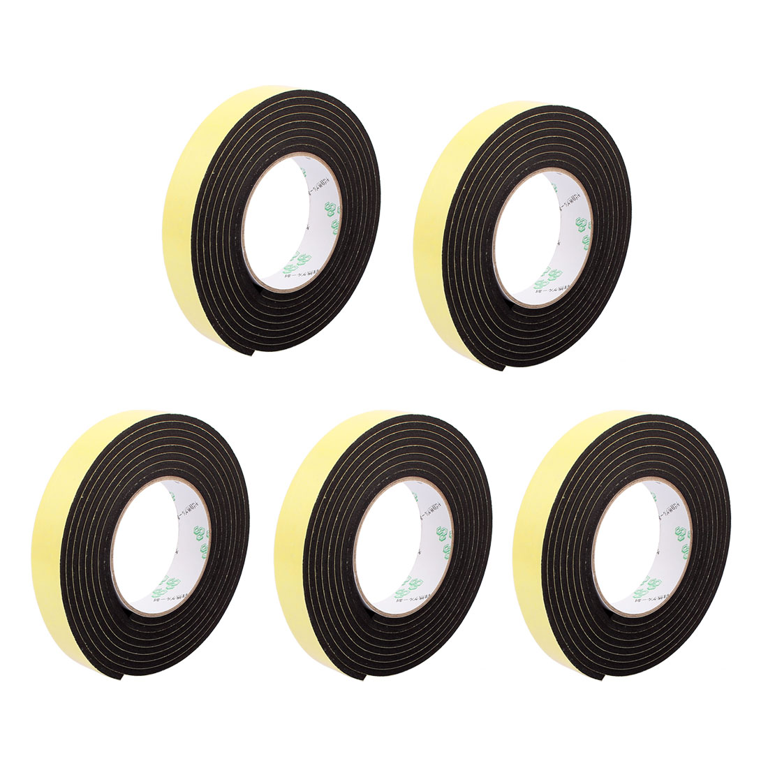 5Pcs 2.5CM Width 3 Meters Length 4MM Thick Single Sided Sealing Shockproof Sponge Tape