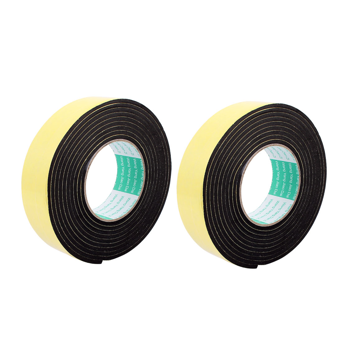 2Pcs 4CM Width 3 Meters Length 4MM Thick Single Sided Sealing Shockproof Sponge Tape