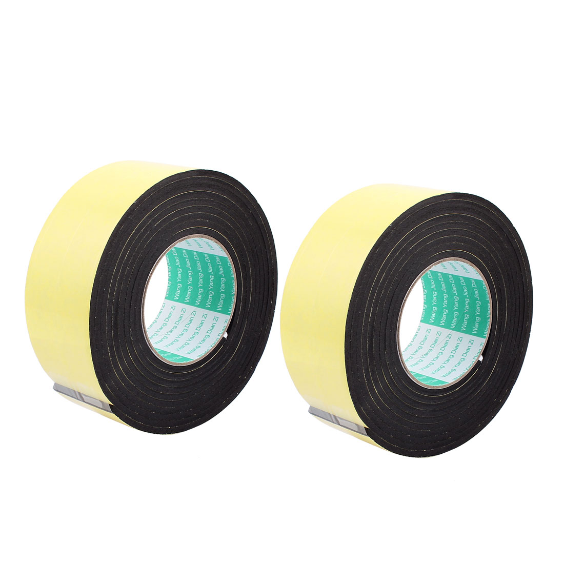 2 Pcs 6CM Width 3 Meters Length 4MM Thick Single Sided Sealing Shockproof Sponge Tape