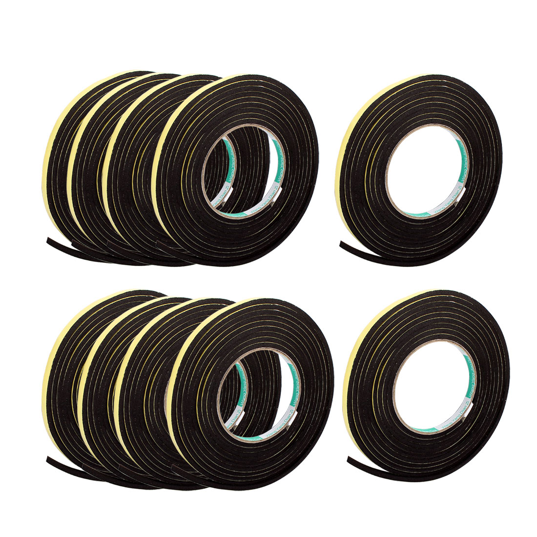 10 Pcs 0.8CM Width 9.8ft Length 4MM Thick Single Sided Sealing Shockproof Sponge Tape