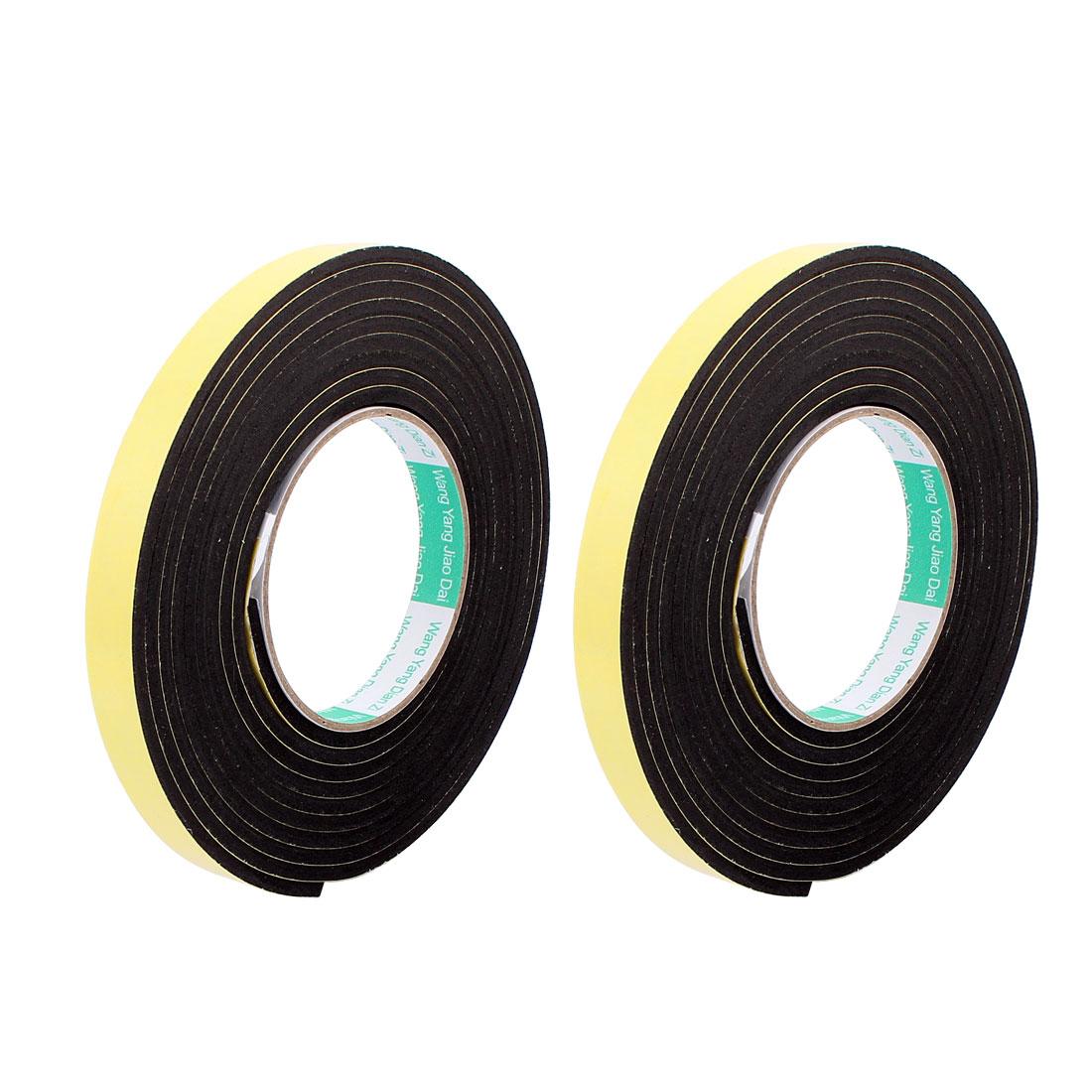 2Pcs 1.5CM Width 3 Meters Length 4MM Thick Single Sided Sealing Shockproof Sponge Tape