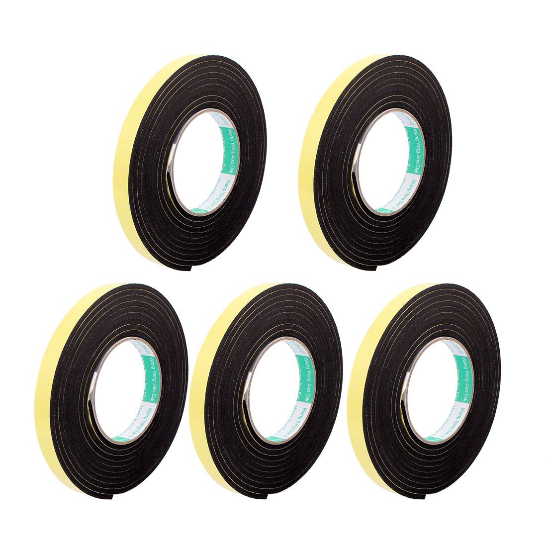 5Pcs 1.5CM Width 3 Meters Long 4MM Thick Single Sided Sealing Shockproof Sponge Tape