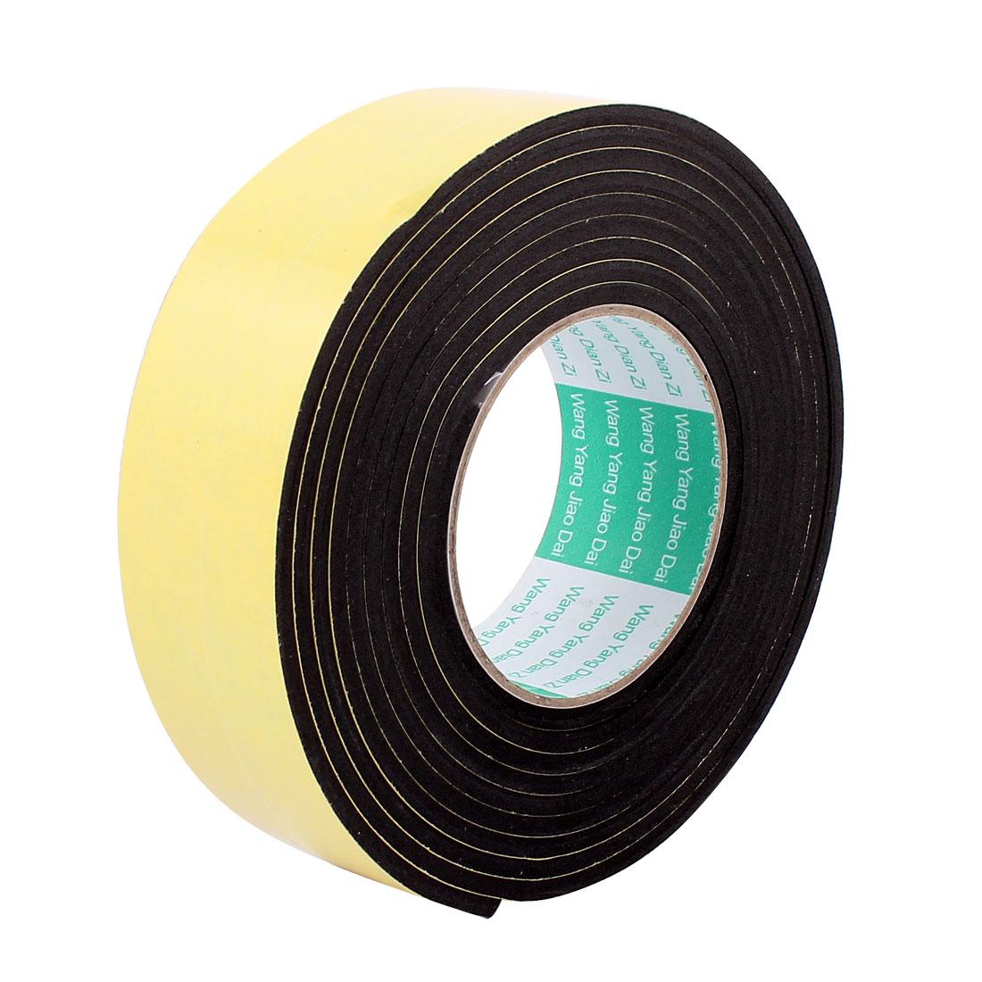 45mmx4mm Single Sided Sponge Tape Adhesive Sticker Foam Glue Strip Sealing 3 Meters 10Ft