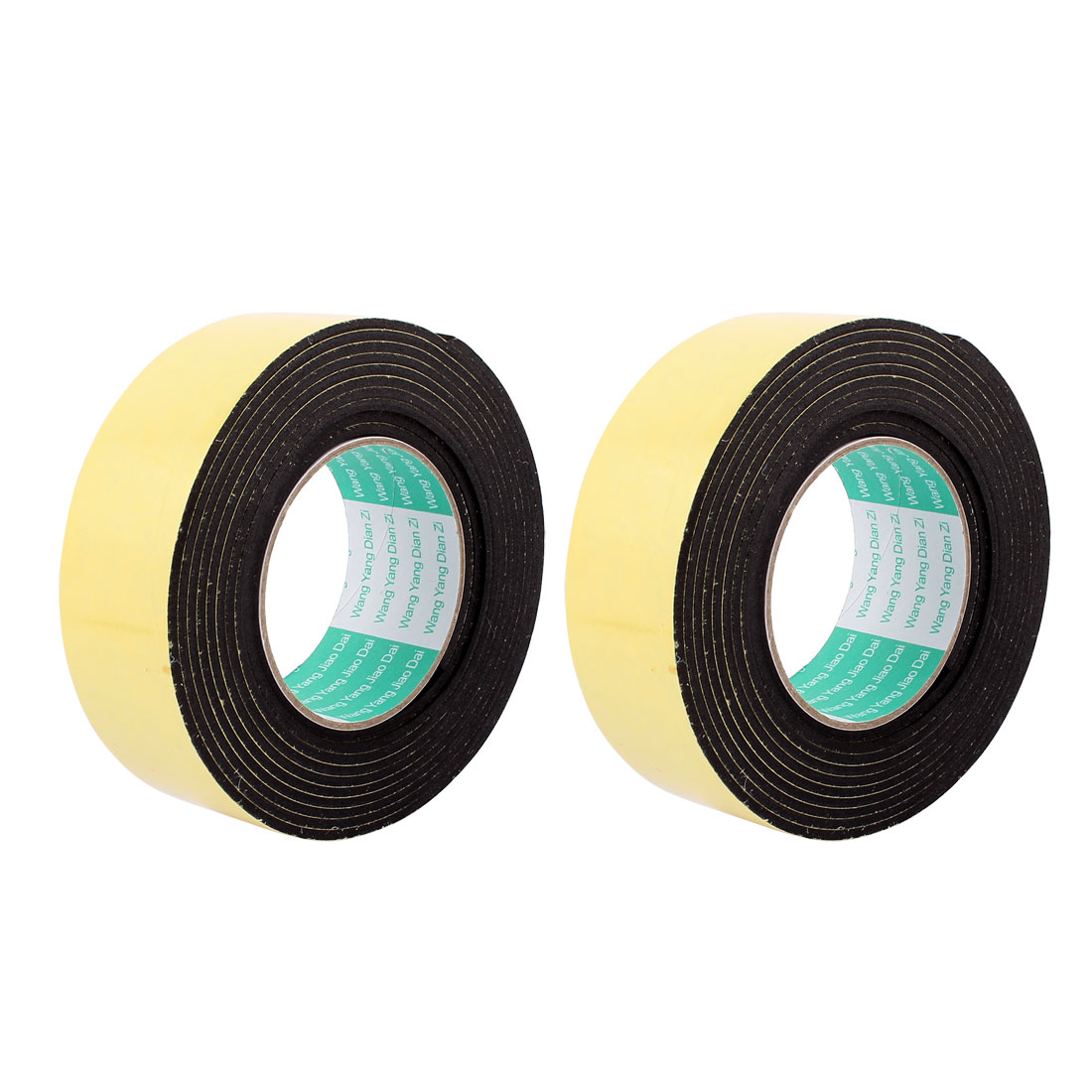 2 Pcs 45mmx4mm Single Sided Sponge Tape Adhesive Sticker Foam Glue Strip Sealing 3 Meters 10Ft