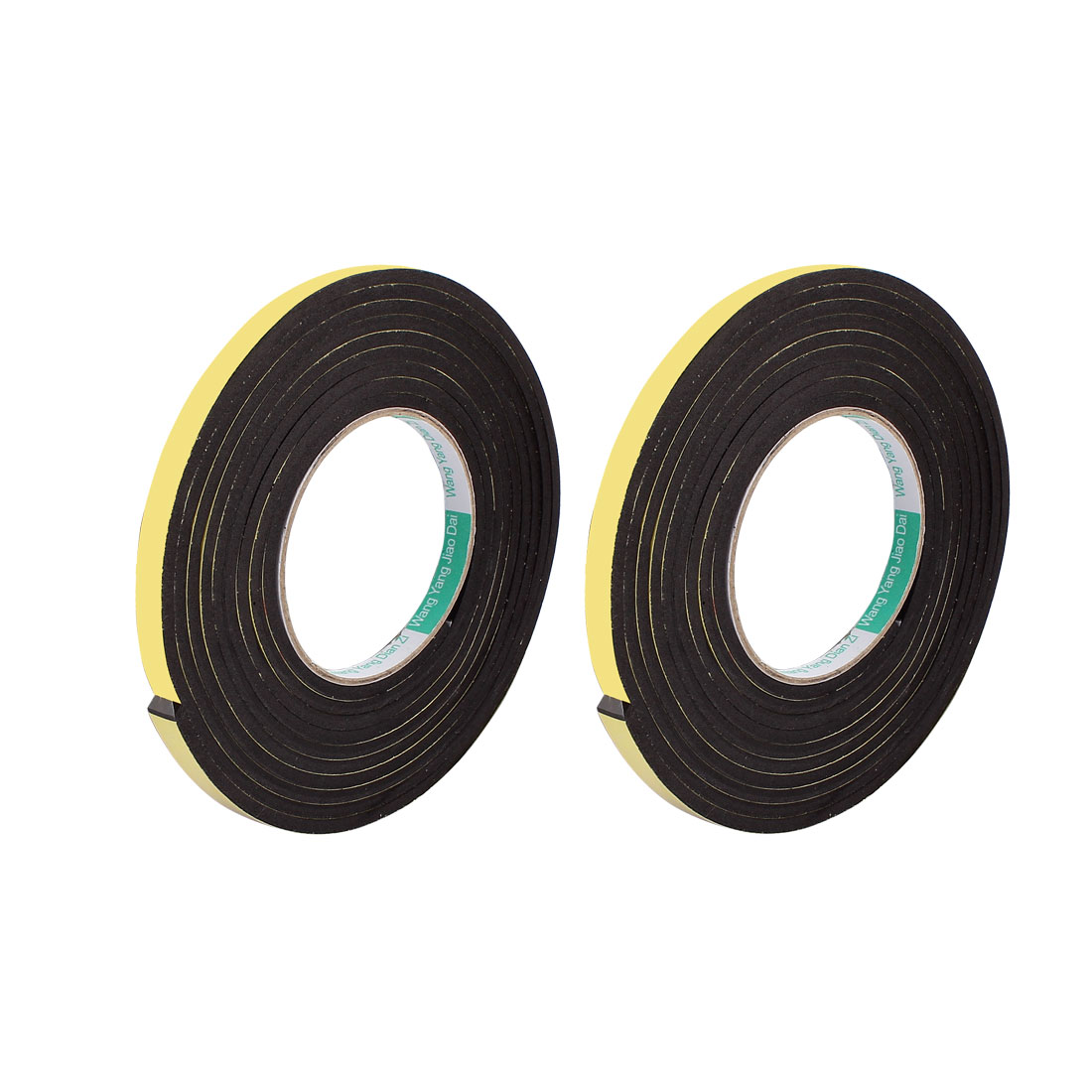 2 Pcs 10mmx4mm Single Sided Sponge Tape Adhesive Sticker Foam Glue Strip Sealing 3 Meters 10Ft