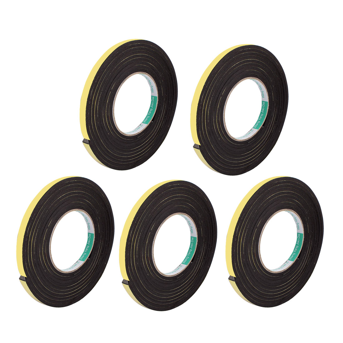 5 Pcs 10mmx4mm Single Sided Sponge Tape Adhesive Sticker Foam Glue Strip Sealing 3 Meters 10Ft