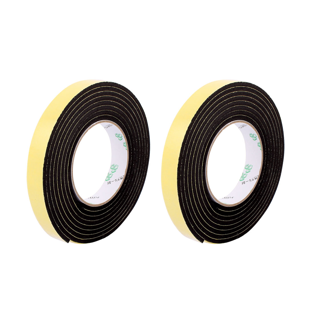 2 Pcs 20mmx4mm Single Sided Sponge Tape Adhesive Sticker Foam Glue Strip Sealing 3 Meters 10Ft